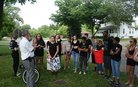 Students gather to protest proposed counselor changes